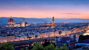 美丽的弗洛伦萨夜景
