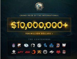 TI7冠军奖金突破1000万美元,这是电竞史上第一次冠军奖金突破8位数